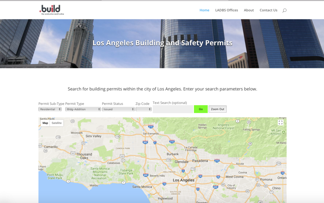 Search for Construction Permits Issued in Los Angeles